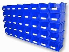 40 X NEW BARTON BLUE TC3 PLASTIC PARTS STORAGE BINS - SET B341