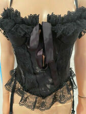 New listing Vintage Bustier Fredericks Of Hollywood Satin and Lace Corset sz 32