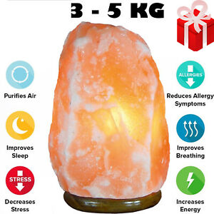 Natural Himalayan Salt Lamp Rock Crystal Pink Healing Ionising Lamp  3-5 KG Lamp