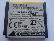 Batterie D'ORIGINE FUJIFILM NP-50 NP50 3.6V 1000mAh GENUINE ORIGINAL Battery