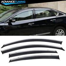 Fits 13-17 Nissan Altima Window Visors Chrome Trim Rain Vent Shade 4PCS