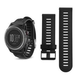 Silicone Wrist Strap Watch Band for Garmin Fenix3 Fenix3HR Fenix5X Black