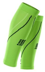 CEP Men's RUN Compression Sleeves Size 3 Flash Green/Black Reflective Hits