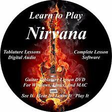Nirvana Guitar TABS Lesson CD 146 Songs + Backing Tracks + BONUS!