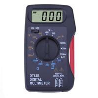 Portable Digital Multimeter Mini Pocket Ammeter Voltmeter Ohm Meter #gib