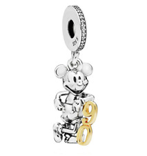 Fashion 925 Silver Crystal Mickey Charm European Beads Fit Necklace Bracelet !!