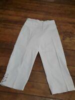 NWT New Women's Worthington White Petite Crop Fit Trouser Dress Pants Size 4P