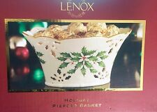 Lenox Holiday Pierced Basket  Christmas ( new in box )