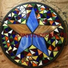 2' black marble table top dining center inlay lapis mosaic home decor