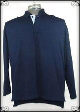 Tee & Green Men's Polo Shirt Top Navy Size L