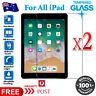 2X Tempered Glass Screen Protector Apple iPad 2 3 4 Air 1 2 Mini 5th 6th 7th Gen