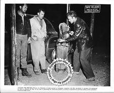 FILM NOIR Edmond O'Brien, Frank Lovejoy, William Talman, still HITCH-HIKER (1952