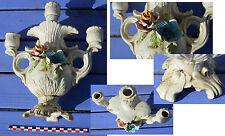 Chandelier bougeoir céramique ancien, non marqué, à nettoyer, pied à restaurer..