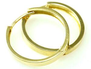 333 Gold Creolen Klappcreolen in der Größe 22,5 mm x 2,7 mm Breite 1 Paar
