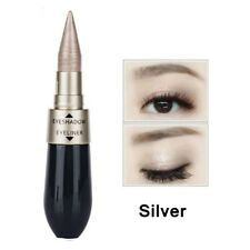 6 Colors Liquid Eyeliner Eyeshadow 2 in 1 Eye Makeup Pencil Metallic Cosmetic Silver
