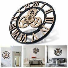 Reloj de pared madera estilo retro chic cocina rustica inicio relojes antiguos