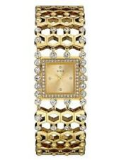 NEW  AUTHENTIC GUESS WOMAN'S GOLD-TONE SPARKLE CUFF WATCH U0574L2 , NEW W/ TAG