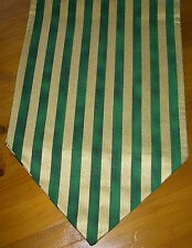"""Traditional Green & Gold Christmas Table Runner Decoration Setting 72""""  180cm"""