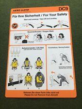 safety card aero lloyd dc 9