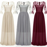 Women Formal Wedding Bridesmaid Evening Long Cocktail Dress Party Ball Prom Gown
