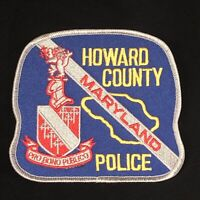 Howard County Police Dept Patch - 4 1/2 inches x 4 1/8 inches - Maryland