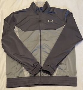 Under Armour Men's Gray Full Zip Loose Fit Varsity Track Jacket Size XL