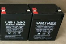 Lot of 2 Ub1250 Universal Battery Non-Spillable Sealed Lead-Acid Battery