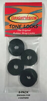 Eight BLACK Rubber Guitar Strap Locks - Grolsch Style - Classic and Reliable