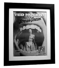 TED NUGENT+Scream Dream+POSTER+AD+RARE ORIG 1980+QUALITY FRAMED+FAST GLOBAL SHIP