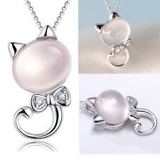 Women Cat Kitten Animal Furong Stone Pendant Sweet Present For Girl Friend