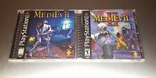 MediEvil 1 + 2 I II Lot ☆☆ Complete w/ MINT CASES ☆☆ - PS1 Playstation 1