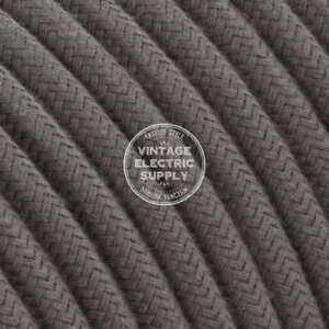 Grey Cotton Heavy Gauge Cotton Covered Electrical Wire - 15/3