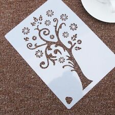Snowflake Tree Flower Stencil Airbrush Painting Art Cake Spray Mold DIY Decor CN