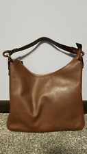 KATE SPADE  LEATHER/ PATENT LEATHER SHOULDER BAG SATCHEL TOTE BROWN