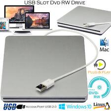 USB externe CD DVD RW Disque Lecteur Pour Windows Ordinateur portable Apple