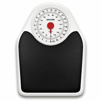 Salter Doctor's Style Mechanical Bathroom Scale - Black & White