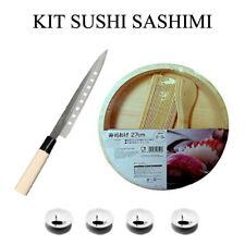 Sushi Set Kit Preparazione Sashimi Coltello Sekiryu + Hangiri set + porta Salse