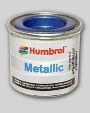 METALLIC BALTIC BLUE HUMBROL Enamel Model Paint - 14ml Tin #52