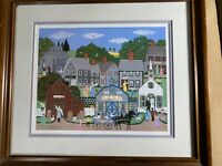 "Superb Cate Mandingo ""Village Afternoon 1989"" Serigraph - Framed"