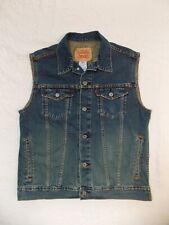 Levi's Denim Trucker Vest Jean Sleeveless Jacket Size XL Biker