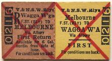 VR Ticket - MELBOURNE (F.ST B1) to WAGGA WAGGA (via Albury) - First Return