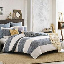 3 pc. Kas Australia South Hampton King Duvet Blue & White Stripe w/ 2 Euro Shams