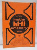 Sams Modular Hi-Fi Components Service Data MHF-48 Harman Kardon Lafayette Lloyds