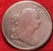 1806 Philadelphia Mint Copper Draped Bust Half Cent