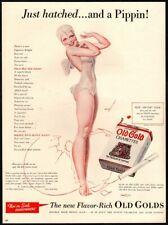 1940 OLD GOLD Cigarettes - Sexy Fairy Woman - Pippin - Retro Original VINTAGE AD