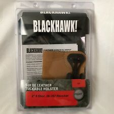 """Blackhawk Suede Leather Tuckable Holster Size 01 Right  2"""" 5 Shot Revolver NEW"""