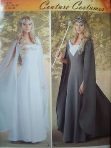 Simplicity Pattern S0495 Medieval Gown Couture Costume Sizes 8-10-12-14 UC/NOS