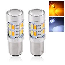 2pc 5630 1157 Dual Color Switchback 20LED Tail Brake Stop Bulb Turn Signal Light