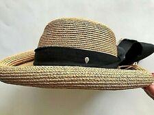 Vintage Helen Kaminski Classic Raffia Roll Brim Hat Exc Australian