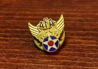 AFA Air Force Association Wing & Star Vintage Hat Lapel Tie Pin Pinback